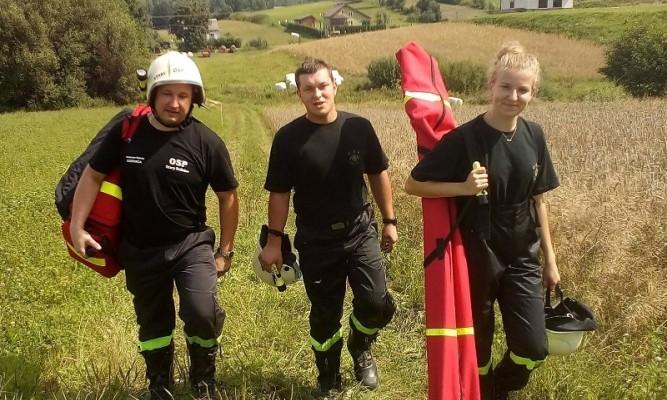 Druhowie: Waldemar Rebisz, Marcin Ozimek i Justyna Gacek fot. starydzikow.pl