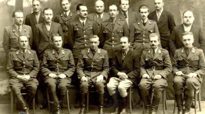 Załoga Nadleśnictwa Lubaczów w 1947 roku