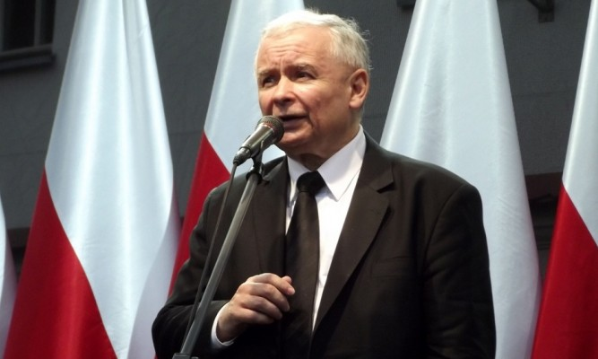 Prezes Prawa i Sprawiedliwości Jarosław Kaczyński fot.  Piotr Drabik/flickr.com