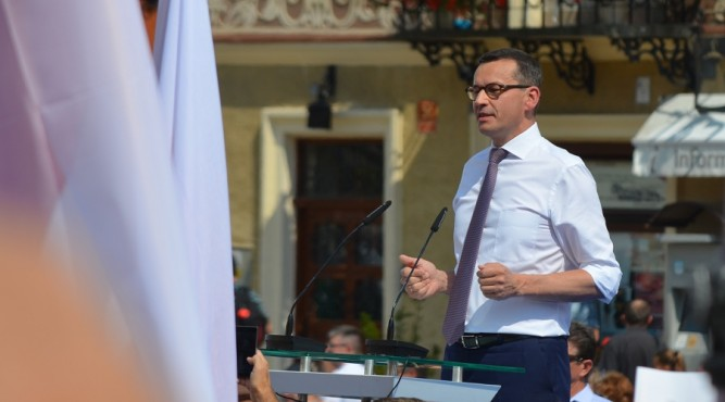Premier Mateusz Morawiecki w Sandomierzu fot. zlubaczowa.pl