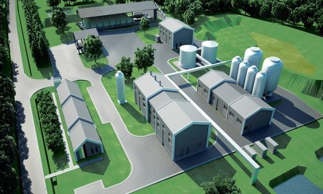 Wizualizacja projektowanej infrastruktury Kopalni Siarki Basznia