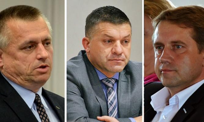 Krzysztof Szpyt, Andrzej Gryniewicz i Robert Serkis fot. archiwum zlubaczowa.pl